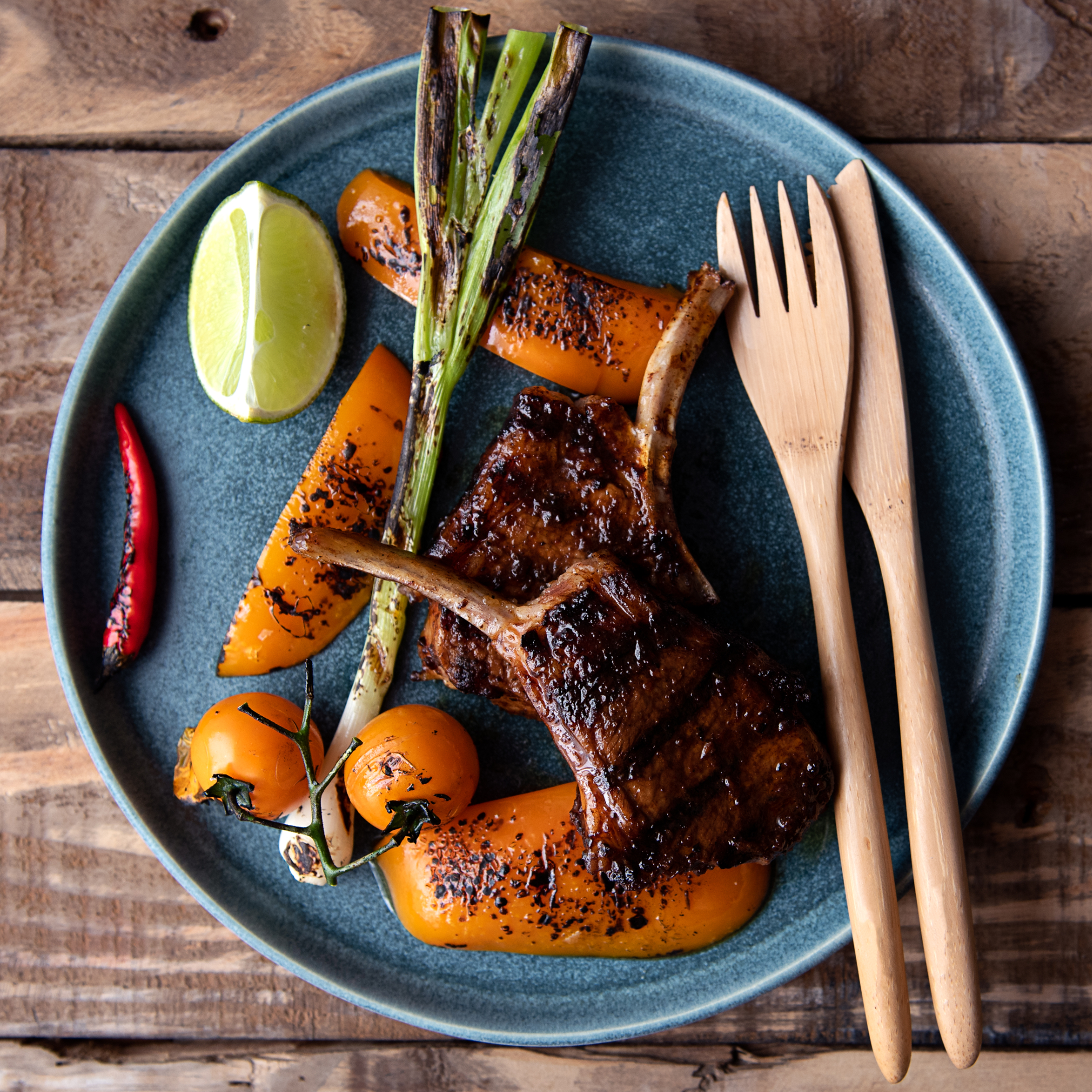 How To Cook Mexican Grilled Lamb Cutlets With Chipotle Mayo